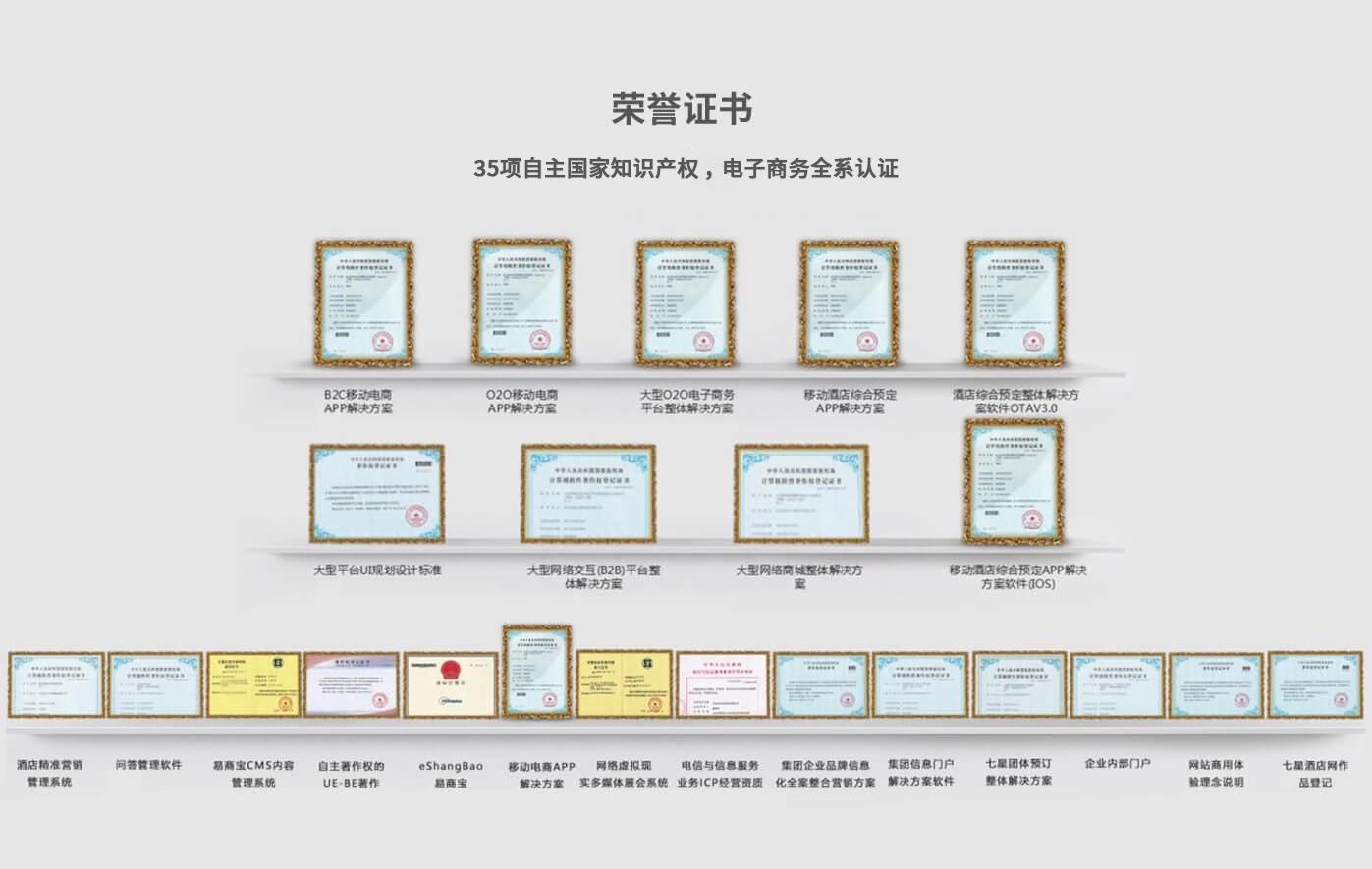 荣誉证书——软件开发公司
